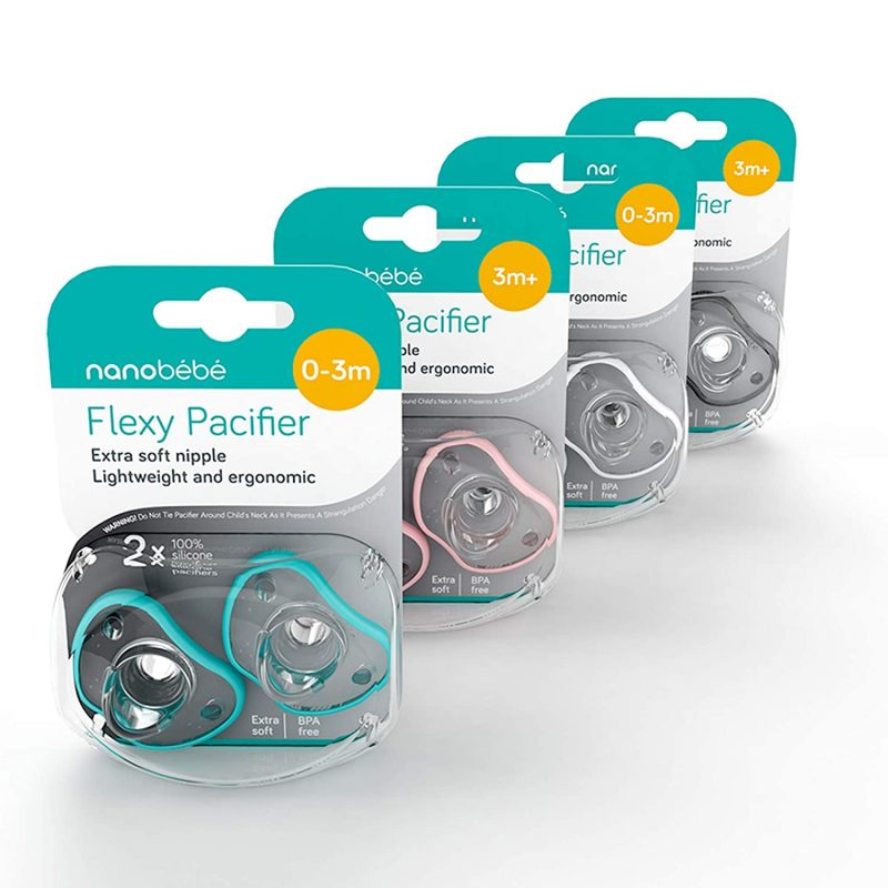 Nanobebe Flexy Pacifier Teal Blue